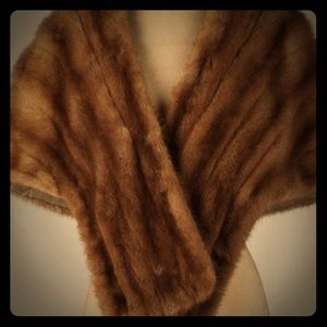 Women's fur mink shawl